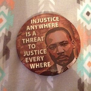 Cool MLK Justice Pin